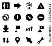 solid vector icon set  ... | Shutterstock .eps vector #1062363611