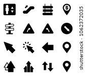 solid vector icon set  ... | Shutterstock .eps vector #1062372035