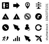solid vector icon set  ... | Shutterstock .eps vector #1062372131