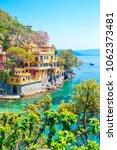 beautiful sea coast with...   Shutterstock . vector #1062373481