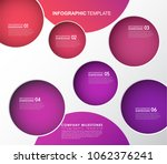 infographic template with five... | Shutterstock .eps vector #1062376241