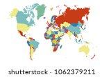 world map vector abstract | Shutterstock .eps vector #1062379211
