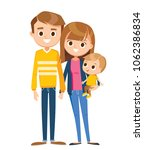 family with baby son | Shutterstock .eps vector #1062386834