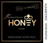 honey and bee logo vector... | Shutterstock .eps vector #1062389474
