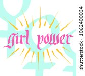 girl power illustration.... | Shutterstock .eps vector #1062400034