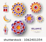 set of ramadan kareem islamic... | Shutterstock .eps vector #1062401354
