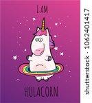fantasy unicorn cute...   Shutterstock .eps vector #1062401417
