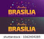 logo with text in brazilian... | Shutterstock .eps vector #1062404285