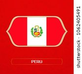 flag of peru is made in... | Shutterstock .eps vector #1062405491
