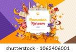 ramadan kareem concept... | Shutterstock .eps vector #1062406001