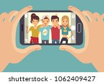 young friends teenagers taking... | Shutterstock . vector #1062409427