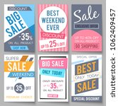 sale posters template with... | Shutterstock . vector #1062409457