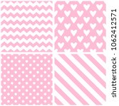 tile pattern with hearts...   Shutterstock . vector #1062412571