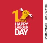 happy labour day vector label... | Shutterstock .eps vector #1062425981