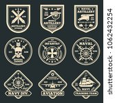 vintage military and army... | Shutterstock . vector #1062432254