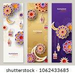 ramadan kareem vertical banners ... | Shutterstock .eps vector #1062433685