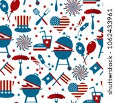 fourth of july party and... | Shutterstock .eps vector #1062433961