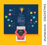 programming and coding concept. ... | Shutterstock .eps vector #1062437441