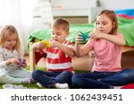 childhood  leisure and people... | Shutterstock . vector #1062439451