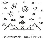 space icon vector art eps image ... | Shutterstock .eps vector #1062444191