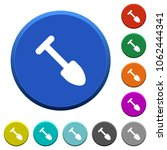 shovel round color beveled... | Shutterstock .eps vector #1062444341