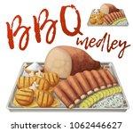 texas bbq medley icon. vector... | Shutterstock .eps vector #1062446627