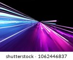 super fast trailing lights in... | Shutterstock . vector #1062446837