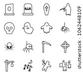 flat vector icon set   grave... | Shutterstock .eps vector #1062448109