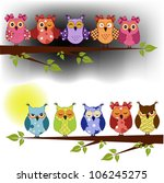 Family Of Owls Sat On A Tree...