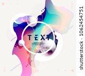 fluid poster design. abstract...   Shutterstock .eps vector #1062454751