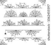 halloween cobweb frame border... | Shutterstock . vector #1062455597