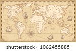 Vintage Physical World Map Wit...