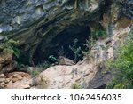 hanging coffin on the cliffs in ... | Shutterstock . vector #1062456035