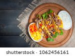 mexican tacos   traditional... | Shutterstock . vector #1062456161
