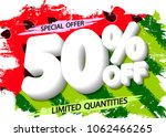 summer sale  50  off  special... | Shutterstock .eps vector #1062466265