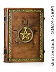 vintage leather book with... | Shutterstock . vector #1062475694