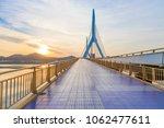 modern bridge with sidewalk | Shutterstock . vector #1062477611