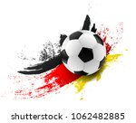 soccer ball with germany flag... | Shutterstock .eps vector #1062482885