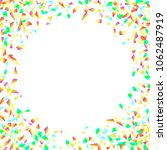 colorful spangles round frame... | Shutterstock .eps vector #1062487919