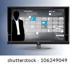 business tv | Shutterstock .eps vector #106249049