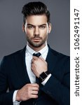 close up handsome and...   Shutterstock . vector #1062491147