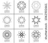 vector design elements set ... | Shutterstock .eps vector #1062502661