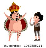 naked new clothes emperor tale | Shutterstock .eps vector #1062505211