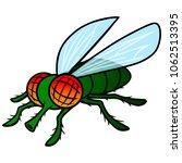 fly mascot   a vector cartoon... | Shutterstock .eps vector #1062513395