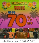 editorial use only  summer sale ... | Shutterstock . vector #1062516431