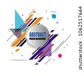 new stylish modern abstract... | Shutterstock .eps vector #1062517664