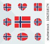 norway flag. national flag of... | Shutterstock .eps vector #1062518174
