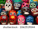 close up of colorful porcelain...   Shutterstock . vector #1062519044