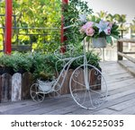 an ornamental bicycle with... | Shutterstock . vector #1062525035