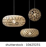 Three Lampshades Isolated Over...